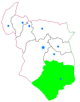Map of Nehbandan County in South Khorasan province
