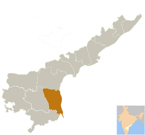 Location of Nellore district in Andhra Pradesh