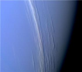 Cirrus clouds imaged above gaseous Neptune