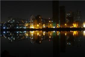 Buildings in Nerul,Navi Mumbai as seen from the Palm beach road