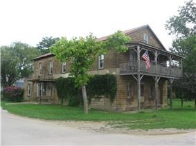 The Nester House, a historic landmark in the town