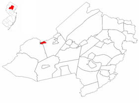 Netcong highlighted in Morris County. Inset map: Morris County highlighted in the State of New Jersey.