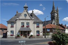 Town hall and the church