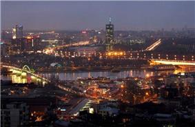 New Belgrade by night