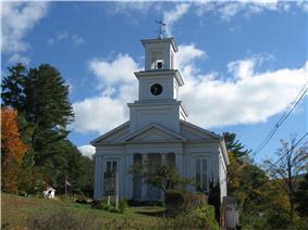 New Hampton Community Church in town center