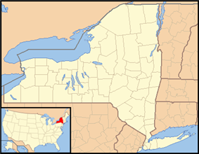 Location of Shawangunk Grasslands National Wildlife Refugewithin New York State