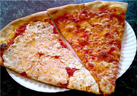 New York-style pizza