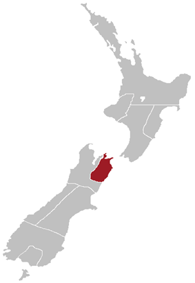 Map showing the boundaries of the Marlborough Province