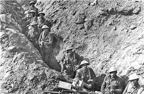 Trenches near Flers, in September 1916