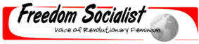 Logo of Freedom Socialist newspaper: