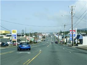 U.S. Route 101 in Newport