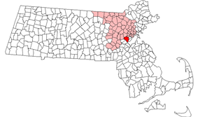Location in Middlesex County, Massachusetts