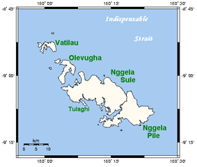 Location in the Nggela Islands