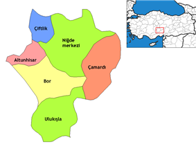 Districts of Niğde