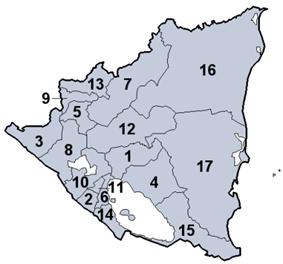 Departments of Nicaragua