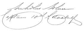 A handwritten signature
