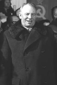 Nikolai Podgorny as depicted during his visit to the German Democratic Republic in 1963
