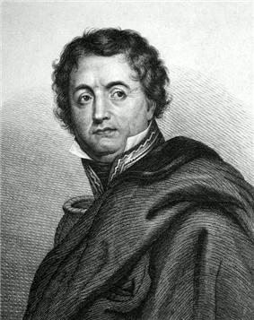 Print shows a clean-shaven man in a military uniform mostly covered up by a cloak.