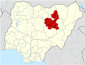Map of Nigeria highlighting  Bauchi State