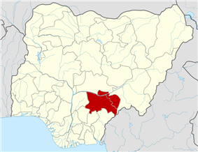 Map of Nigeria highlighting Benue State