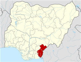 Map of Nigeria highlighting Cross River State
