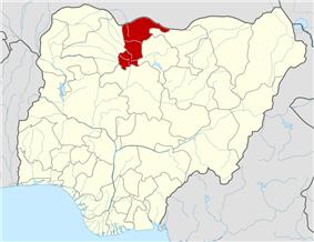 Map of Nigeria highlighting Katsina State