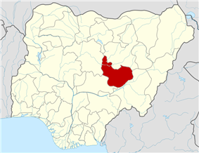 Location of Plateau State in Nigeria