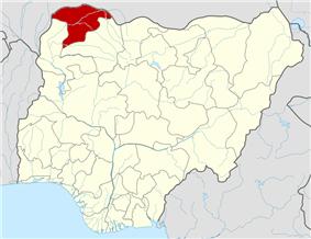 Location of Sokoto State in Nigeria