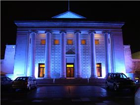 Exterior of the O2 Guildhall Southampton, shown at night, 2005