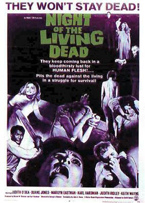 Theatrical poster of Night of the Living Dead