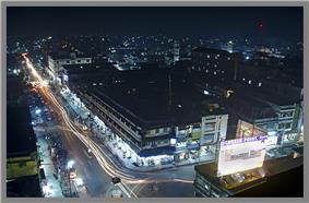 Night view of Dibrugarh