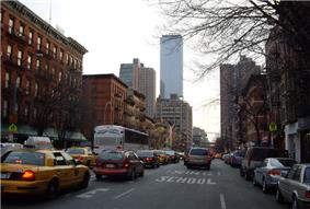 Looking south on Ninth Avenue from 49th Street