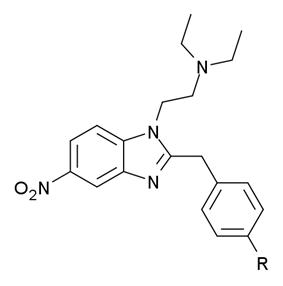 General structure of Nitazene .