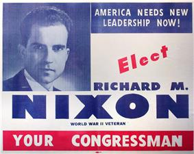 an election handout urging Nixon's election