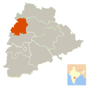 Location in Telangana, India (Officially from 2 June 2014)