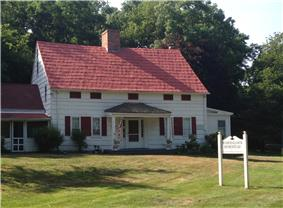 The c. 1721 Noah Hallock homestead, the oldest extant structure in Rocky Point