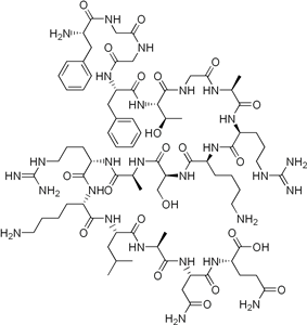 Chemical structure of Nociceptin.