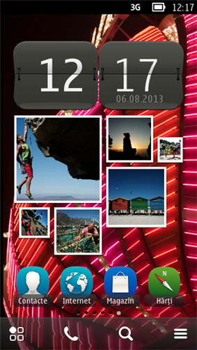 Home screen of Nokia Belle OS Feature Pack 2