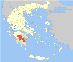 Arcadia within Greece