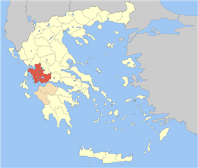 Aetolia-Acarnania within Greece