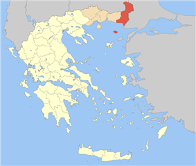Evros within Greece