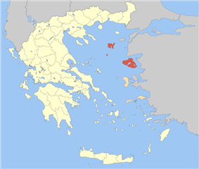 Lemnos and Lesbos within Greece
