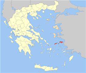 Samos and Ikaria within Greece