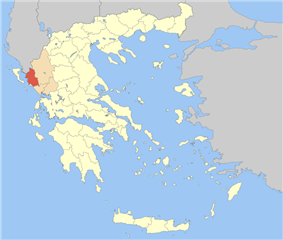 Thesprotia within Greece