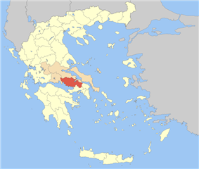 Boeotia within Greece