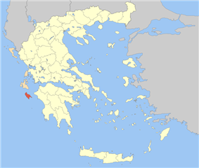 Zakynthos within Greece