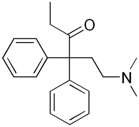 Chemical structure of Normethadone.