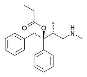Chemical structure of Norpropoxyphene.