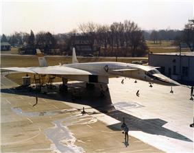 XB–70 Valkyrie on display at Wright-Patterson AFB