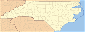 Location of Haw River State Park in North Carolina